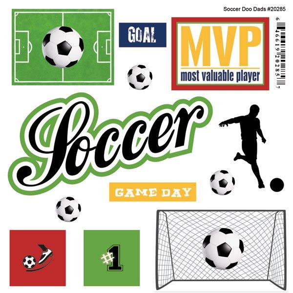 Soccer Mini Doodads Stickers