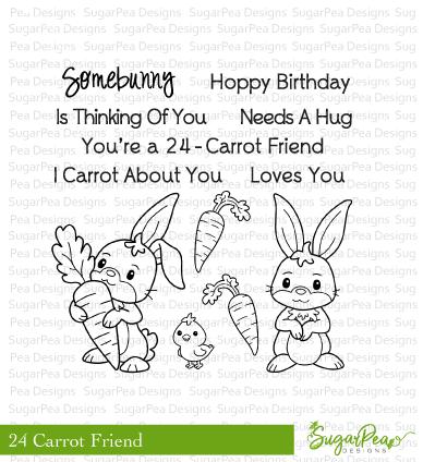 SugarPea Designs-24 Carrot Friend Stamp & Die Bundle