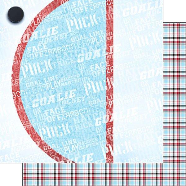 Hockey Addict-2 Hockey Puck/Plaid