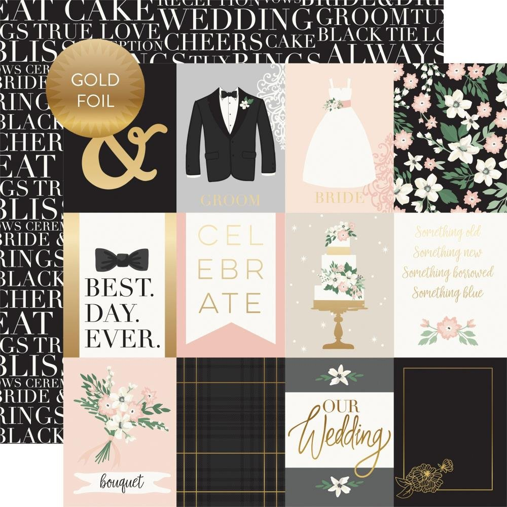 Wedding Day-3x4 Cards (Foil Accents)