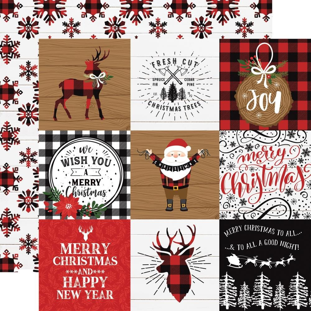 A Lumberjack Christmas-4x4 Journaling Cards