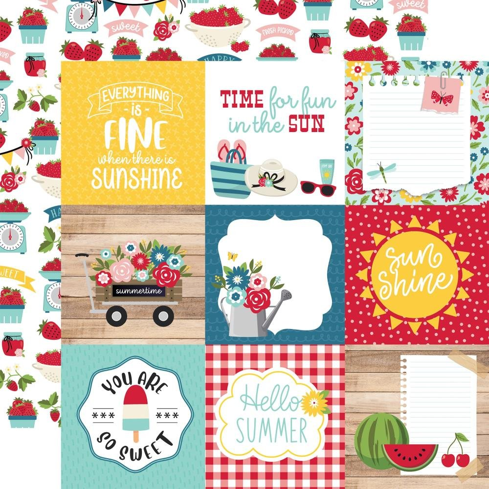 A Slice Of Summer-4x4 Journaling Cards