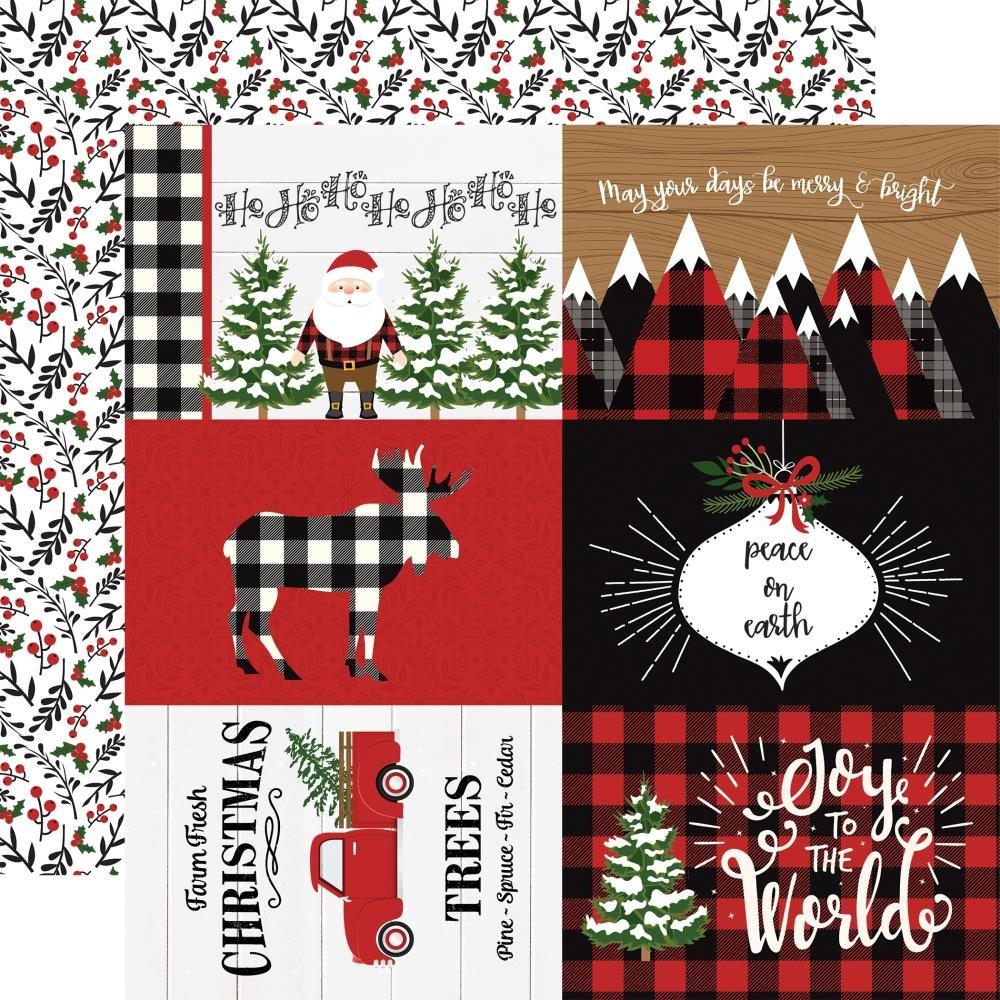 A Lumberjack Christmas-4x6 Journaling Cards