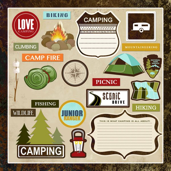 Lovely Camping Stickers