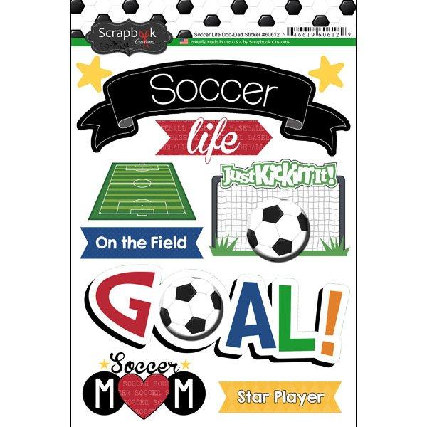 Soccer Life-Doo Dads Sticker