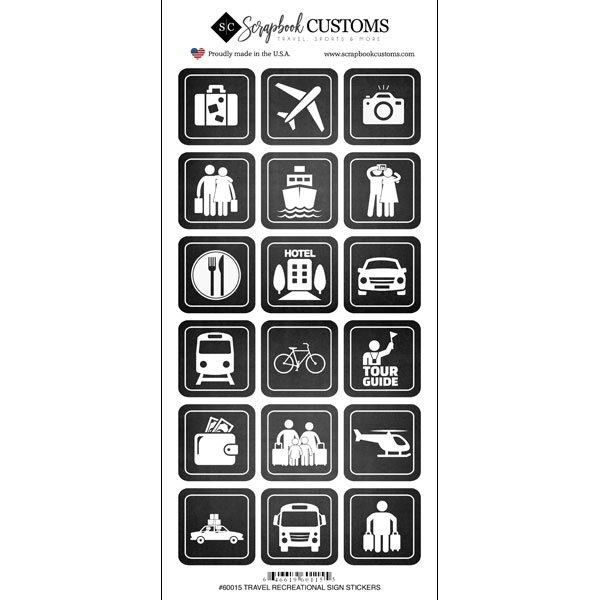 Scrapbook Customs Travel Recreation Sign Stickers