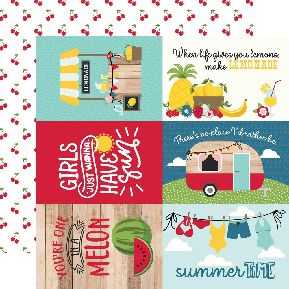 A Slice Of Summer-6x4 Journaling Cards