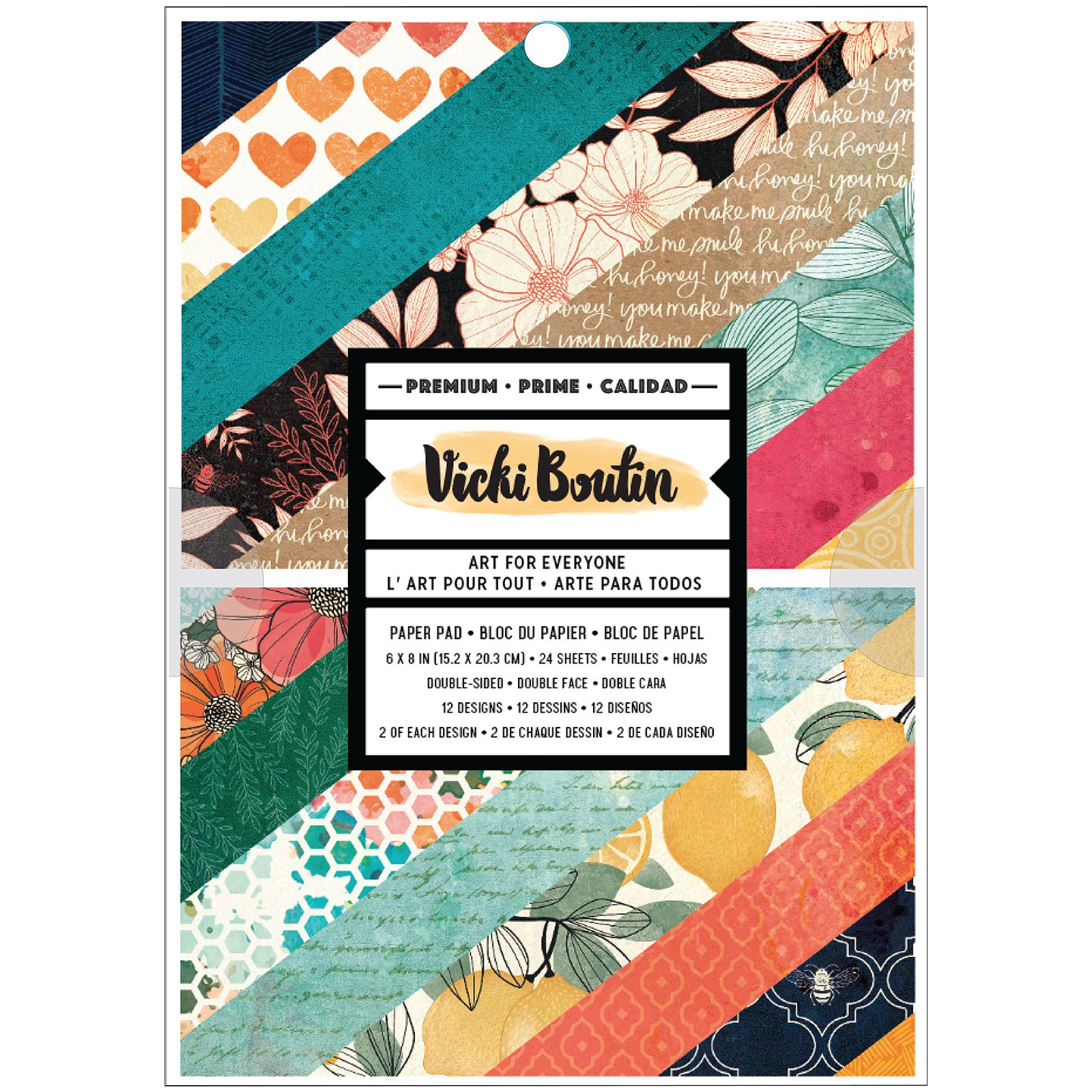 Vicki Boutin Wildflower & Honey-6x8 Paper Pad