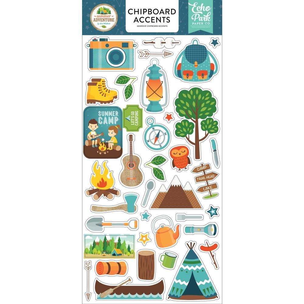 Summer Adventure Chipboard-Accents