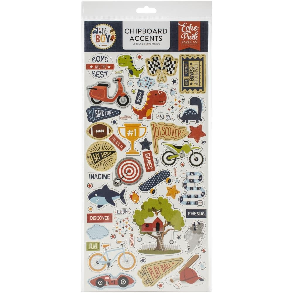 All Boy Chipboard-Accents