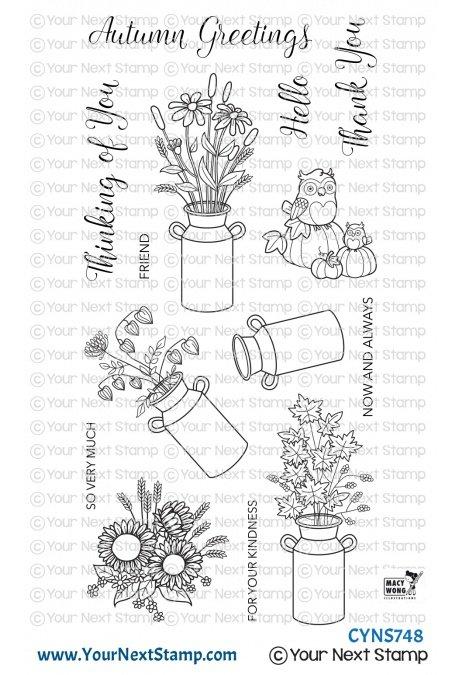 Your Next Stamp-Autumn Milk Cans Stamp