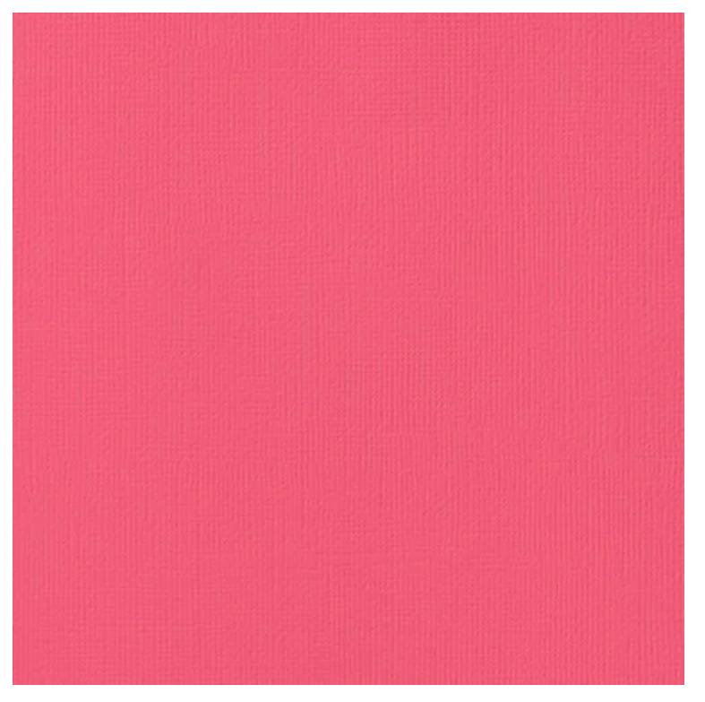 12x12 Textured Cardstock-Begonia