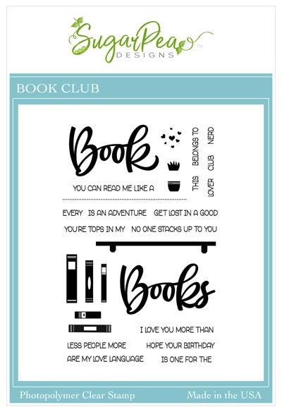SugarPea Designs-Book Club Stamp & Die Bundle
