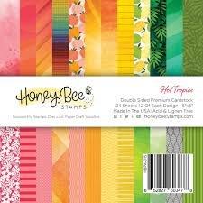Honey Bee Stamps 6x6 Paper Pad-Hot Tropics