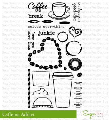 SugarPea Designs-Caffeine Addict Stamp