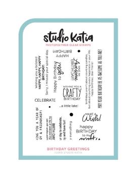 Studio Katia-Birthday Greetings Stamp