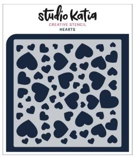 Studio Katia Stencil-Hearts