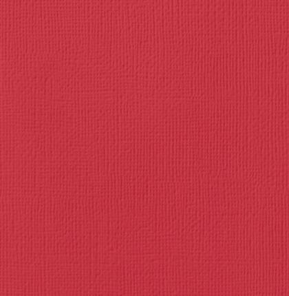12x12 Textured Cardstock-Crimson