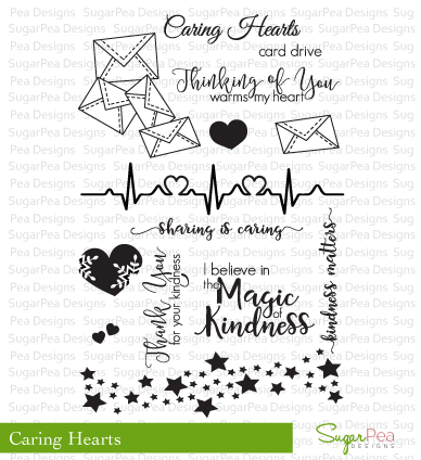SugarPea Designs-Caring Hearts Stamp