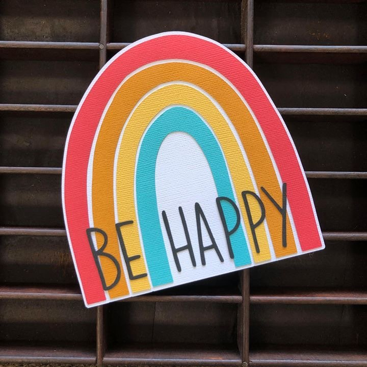 Be Happy Diecut Title