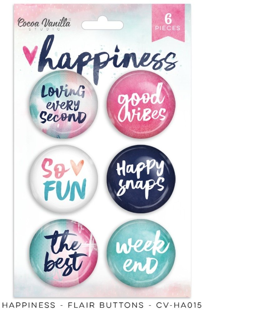 Happiness Flair Buttons