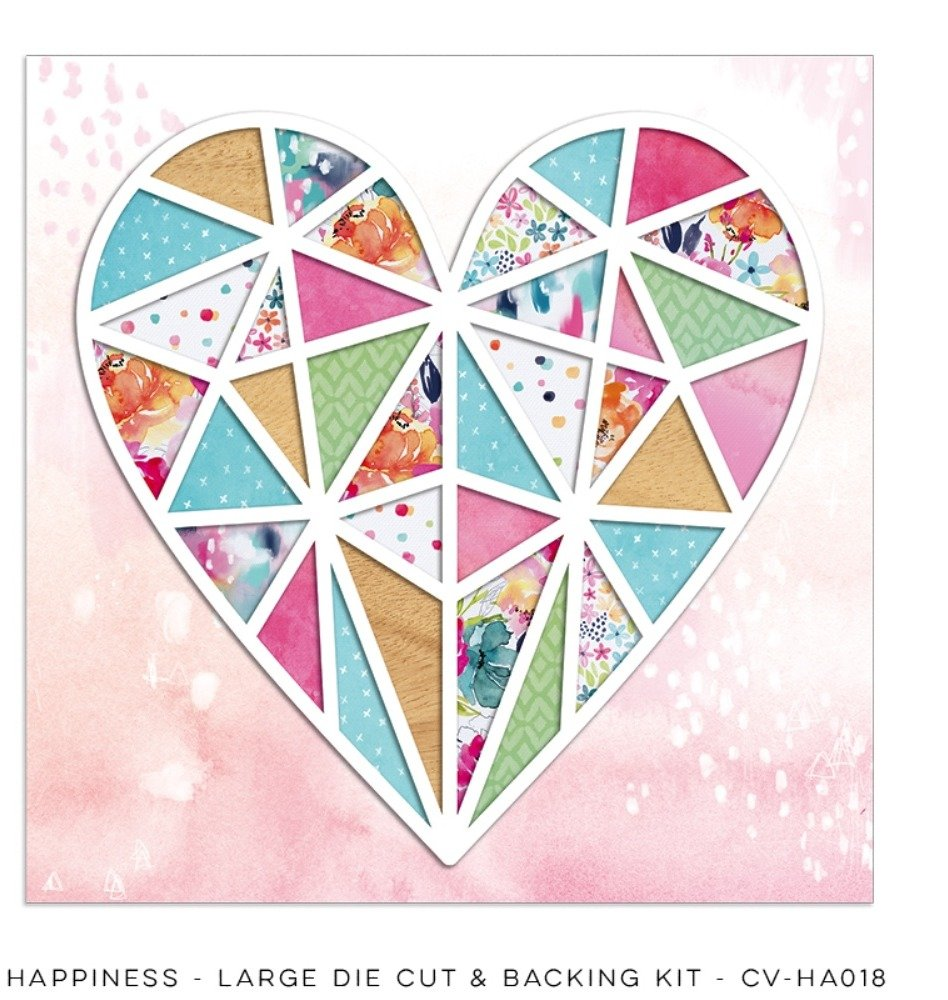 Happiness Large Die Cut & Backing Kit