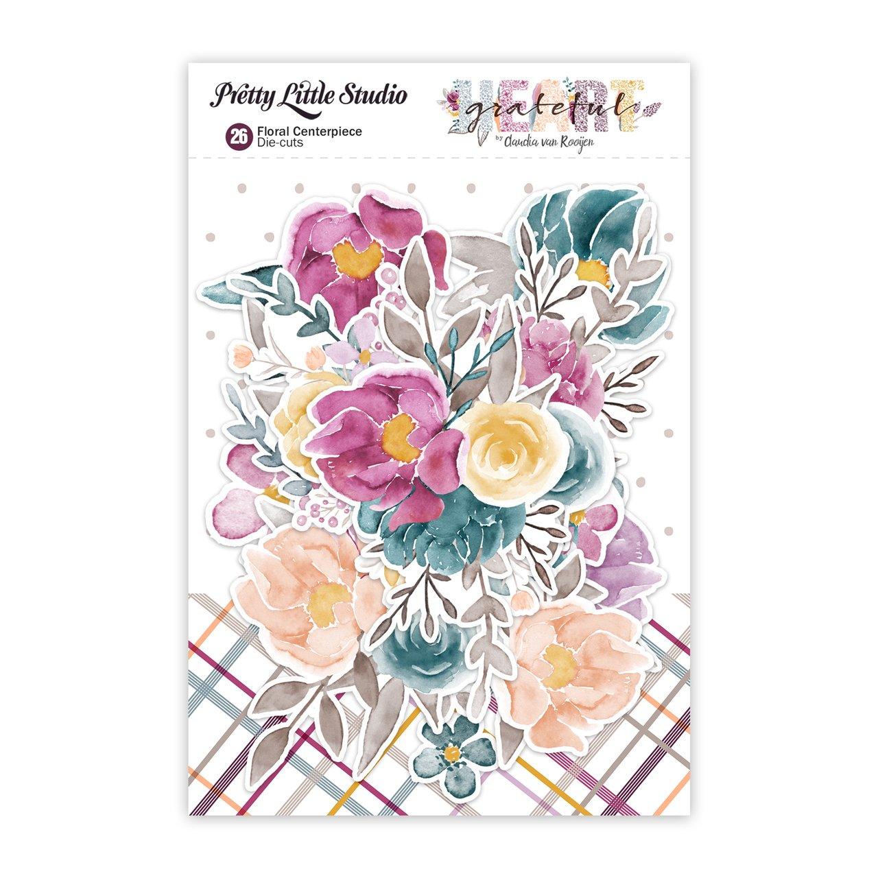 Grateful Heart Diecuts-Floral Centerpiece