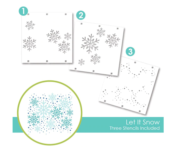 Taylored Expressions Layering Stencil-Let It Snow
