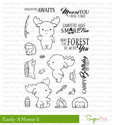SugarPea Designs-Easily A'Moosed Stamp & Die Bundle
