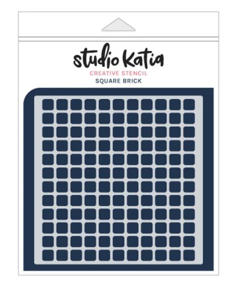 Studio Katia Stencil-Square Brick
