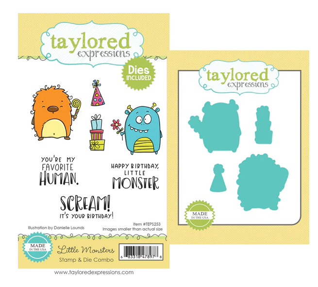 Taylored Expressions-Little Monsters Stamp & Die Bundle