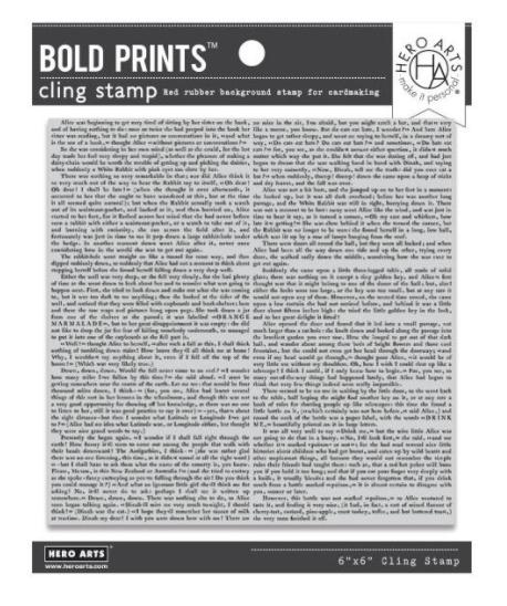 Hero Arts-Novel Prose Bold Prints Cling Stamp