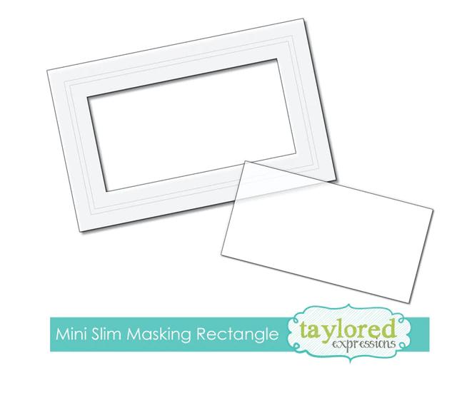 Taylored Expressions Masking Stencil-Mini Slim Rectangle