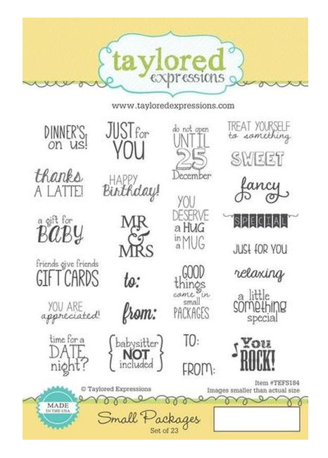 Taylored Expressions-Small Packages Stamp