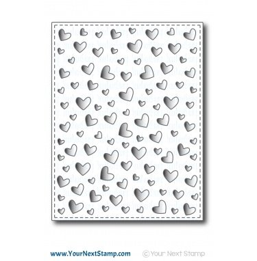 Your Next Stamp-Floating Heart Panel Die