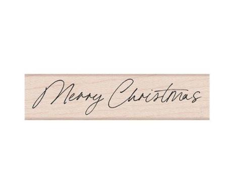 Hero Arts-Handwritten Merry Christmas Stamp