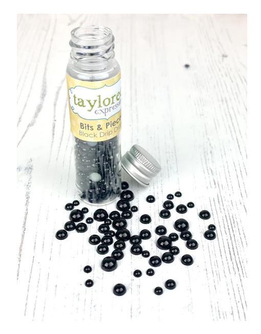 Taylored Expressions Bits & Pieces-Drip Drops Black