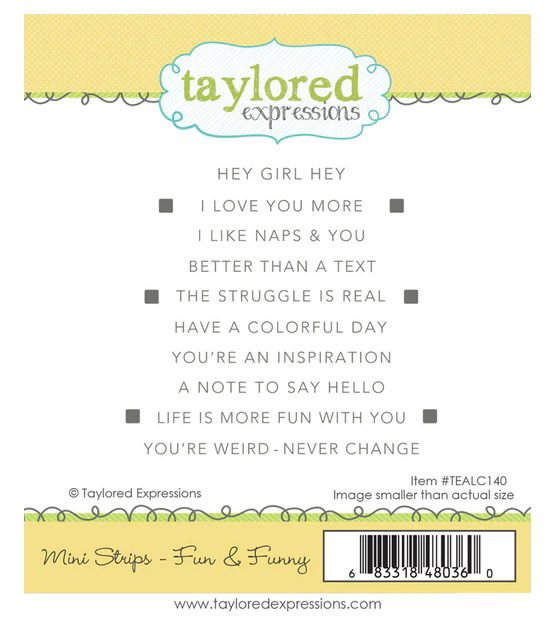 Taylored Expressions-Mini Strips Fun & Funny Stamp