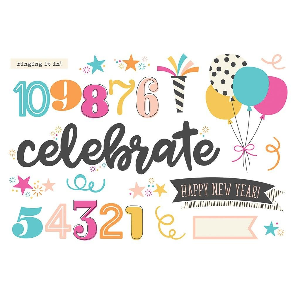 Simple Page Pieces-Happy New Year