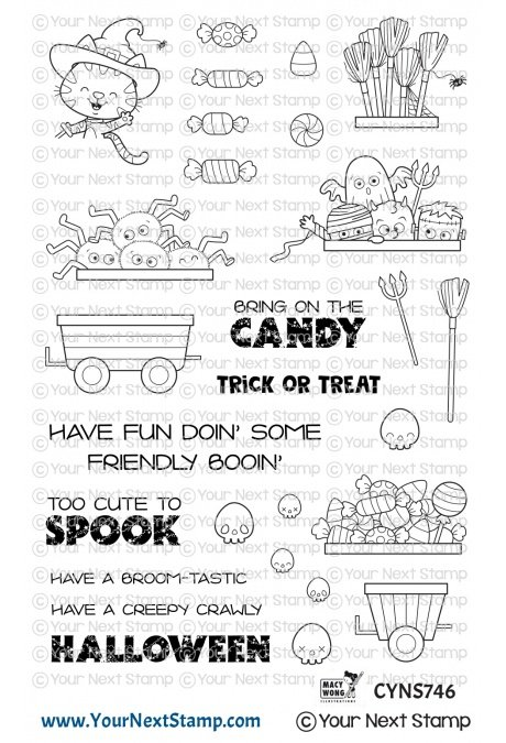 Your Next Stamp-Happy Hayrides Halloween Stamp