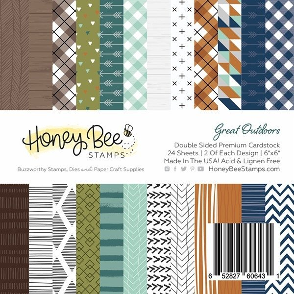 Honey Bee Stamps 6x6 Paper Pad-Great Outdoors