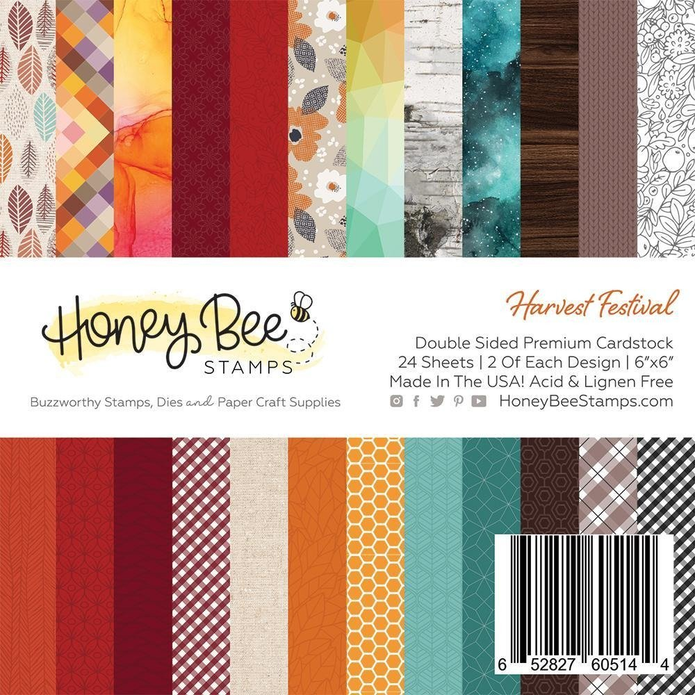 Honey Bee Stamps 6x6 Paper Pad-Harvest Festival