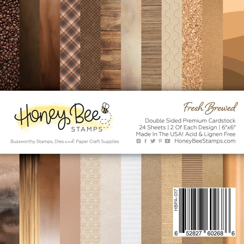 Honey Bee Stamps 6x6 Paper Pad-Fresh Brewed