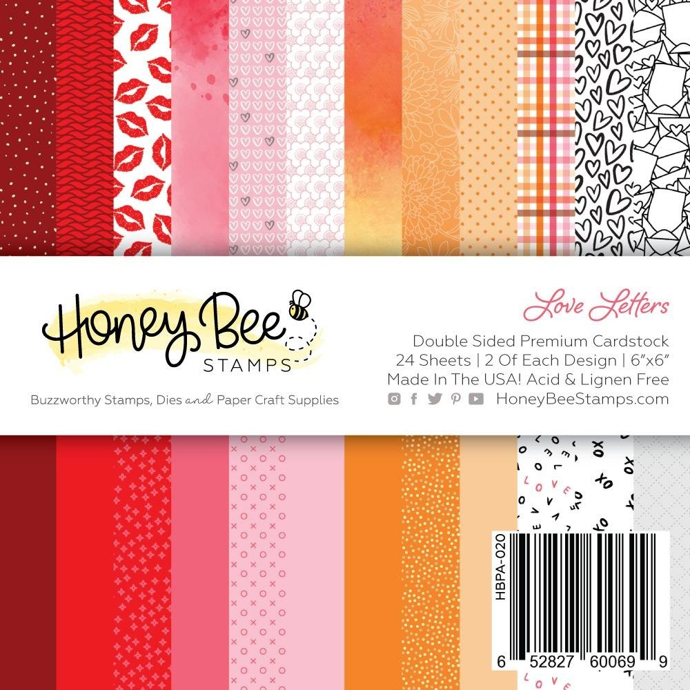 Honey Bee Stamps 6x6 Paper Pad-Love Letters
