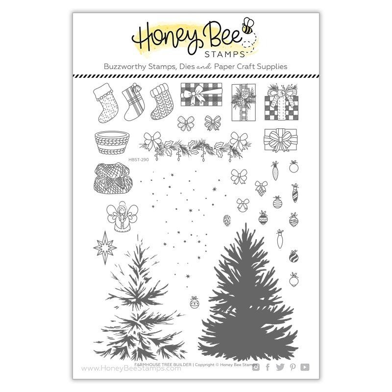 Honey Bee Stamps-Farmhouse Tree Builder Mega Bundle