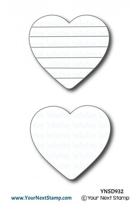 Your Next Stamp-Rainbow Heart Die