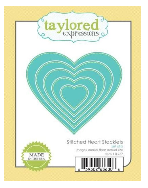 Taylored Expressions-Stitched Heart Stacklets