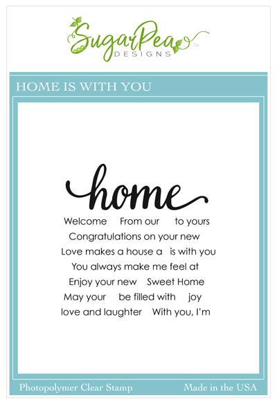SugarPea Designs-Home Is With You Stamp & Die Bundle