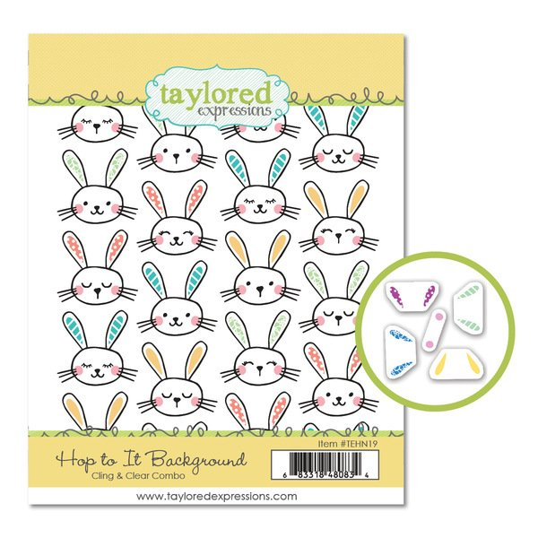 Taylored Expressions-Hop To It Cling And Clear Stamp & Die Bundle