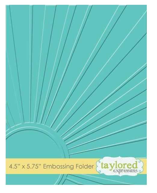 Taylored Expressions Embossing Folder-Walking On Sunshine